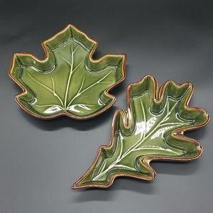 Maple & Oak Leaf Ceramic Dishes